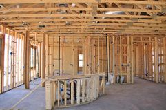 Interior Of New Home Construction Royalty Free Stock Photo