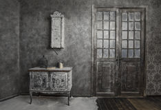 Interior Of Old Abandoned House Royalty Free Stock Photos
