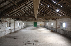 Interior Of Old Barn Stock Images
