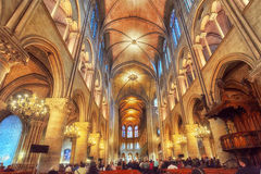 Free Interior Of One Of The Oldest Cathedrals In Europe- Notre Dame D Royalty Free Stock Photography - 85670377