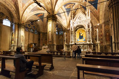 Interior Of Orsanmichele Church In Florence Royalty Free Stock Photos