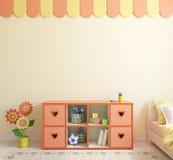 Interior Of Playroom. 3d Rendering. Royalty Free Stock Photo