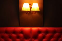Interior Of Restaurant, Cafe Or Bar Close Up. Royalty Free Stock Photography