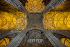 Free Interior Of Seville Cathedral, Spain Royalty Free Stock Image - 25344836