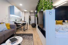 Free Interior Of Small Modern Apartment Stock Photos - 167480433