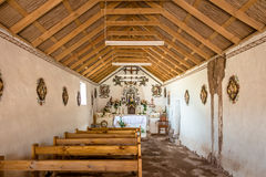 Interior Of Socaire Village Old Church - Atacama Desert, Chile Royalty Free Stock Photography