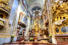 Interior Of St. Peter Church Peterskirche In Vienna, Austria Royalty Free Stock Images