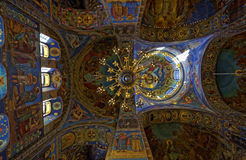 Interior Of The Cathedral Of The Resurrection Of Christ In Saint Petersburg, Russia. Church Of The Savior On Blood