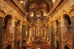 Interior Of The Church Of Saints Peter And Paul (XVII Century Ba Stock Photos