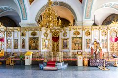 Free Interior Of The Intercession Cathedral In Zverin Pokrovsky Monas Stock Image - 111489381