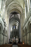 Interior Of The Notre Dame Cathedral In Bayeux, France Stock Photo