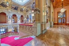 Free Interior Of The San Pellegrino Terme Casino Stock Photo - 157084780