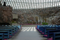 Free Interior Of The Temppeliaukio Church In Helsinki Stock Photos - 27090763