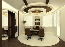 The interior of the office. Construction of the ceiling in the interior of the office Stock Illustration