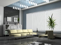 Interior office. For negotiations 3D rendering royalty free illustration