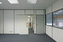 Interior of an office building. View of a interior of an office building Royalty Free Stock Photo