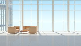 The interior of an office building Royalty Free Stock Image