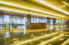 Interior of an office building lobby with reception Royalty Free Stock Photos