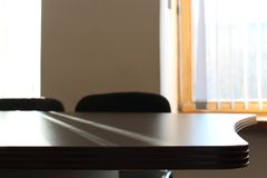 The interior of the office and empty table royalty free stock images