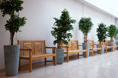 Interior of office lobby. Interior of an empty office lobby Stock Images