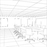 Interior Office Meeting Room. Tracing Illustration Stock Photo