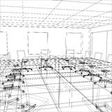 Interior office meeting room. Tracing illustration Royalty Free Stock Images