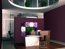 Interior of the office reception Royalty Free Stock Photo