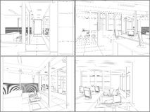 Interior Office Rooms Vector 06 Stock Images