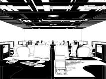 Interior Office Rooms Vector Royalty Free Stock Photography