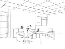 Interior Office Rooms Vector Stock Image