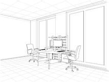 Interior Office Rooms Vector Stock Images