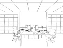 Interior Office Rooms Vector Royalty Free Stock Images