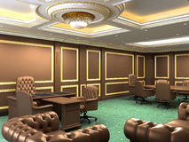 Interior office space, royal apartment. With luxury furniture Stock Image