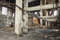 Interior of old abandon paper mill in Kalety - Pol Stock Photos