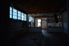 Interior of Old Abandoned Building stock image