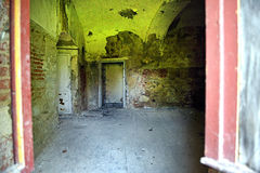 Interior of an old abandoned castle Stock Image