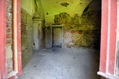 Interior of an old abandoned castle Royalty Free Stock Photography