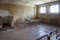 Interior of an old abandoned prison Royalty Free Stock Photo