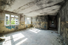 Interior of an old abandoned soviet hospital Stock Image
