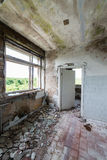 Interior of an old abandoned soviet hospital Royalty Free Stock Images
