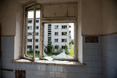 Interior of an old abandoned soviet hospital Royalty Free Stock Photos
