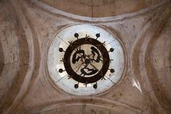 Interior of Old Albanian church Kish Azerbaijan Stock Photo