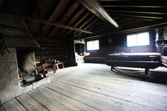 Interior of old barn Stock Image