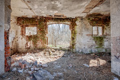 Interior of an old barn Royalty Free Stock Photography
