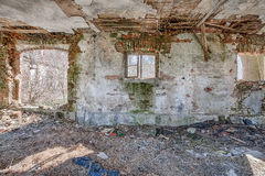 Interior of an old barn Stock Photography