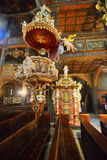 Interior of old baroque church of peace in Swidnica Royalty Free Stock Images