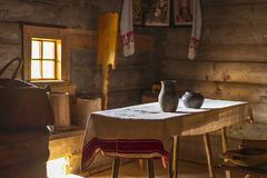 Old Belorussian wooden house Stock Images