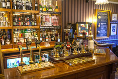 Interior of old Cambridge tavern, public house. Cambridge Royalty Free Stock Photos