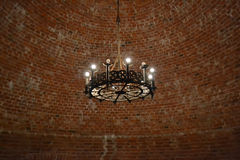 Interior of an old castle in Sigulda. Stock Image