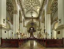 Interior the old Cathedral in Zamosc, Poland. royalty free stock photography